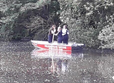 Überörtlicher Einsatz: Personensuche im Gewässer