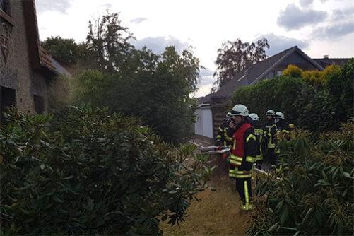 Gebäudebrand mit vermisster Person – Einsatzübung