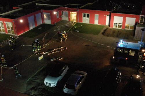 Alarmübung Gebäudebrand
