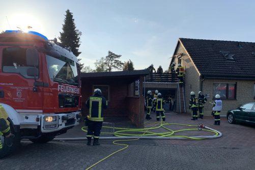 Brand auf einer Dachterrasse