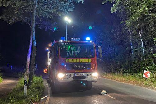Technische Hilfe nach Verkehrsunfall – Auslaufende Betriebsstoffe