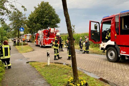 F2 Gebäudebrand nach Blitzeinschlag